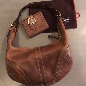 Medium Brown Vintage Braided handle Hobo & wallet